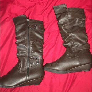 Shoes - Brown leather boots!